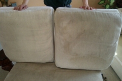 seat cushion beforeand after